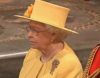 Królowa Elżbieta na książęcym ślubie